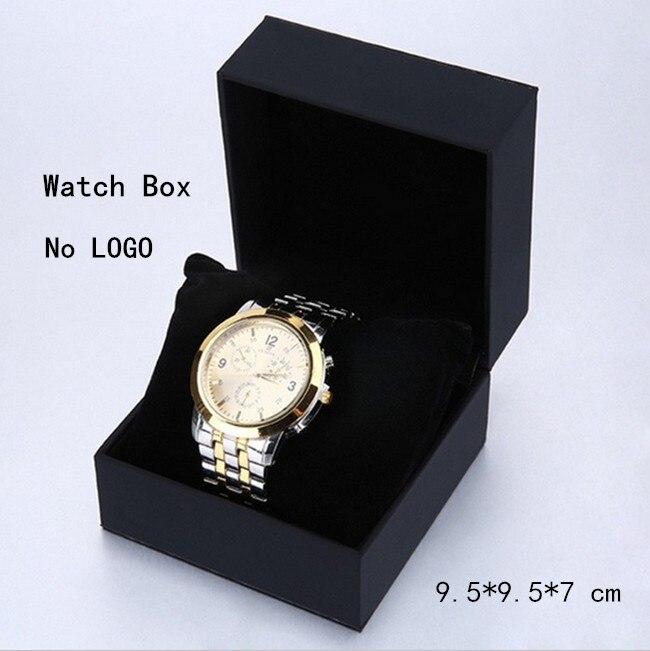 Hulgimüük mustad käekellad kasti puhul kandiline pehme käekella mood kellad korraldaja ja pakkimine kingitus hoiukast B005