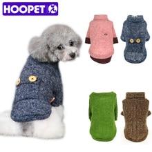 HOOPET Pet Dog Woolen Sweater Puppy Knitwear Clothes Hoodie Winter Warm Turtleneck Cat App