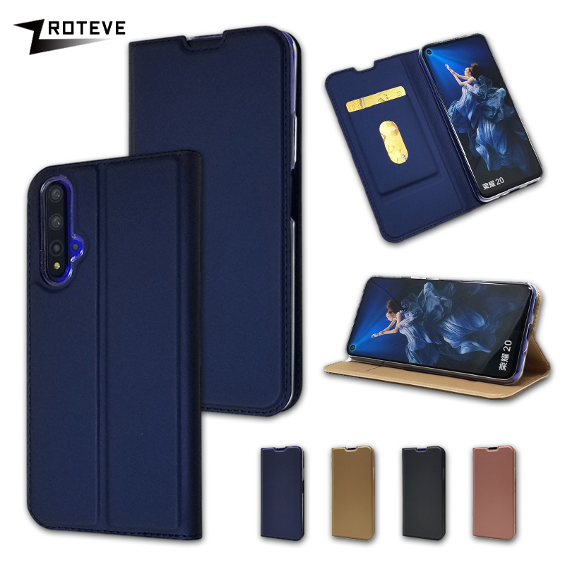 Flip Cases For Huawei Honor 20 Pro ZROTEVE Card Pocket Wallet Case PU Leather Magnetic Cover For Huawei Honor 20 Lite Case Cover