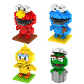 One Piece LOZ Sesame Street Building Blocks DIY Mini Action Figures 3D Toy Brick Birthday Gift for Children