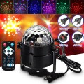 RGB LED Stage Effect Light Lamp 3W Voice Active Crystal Stage Lighting With IR Remote Control Party AC100-240V EU UK AU US Plug