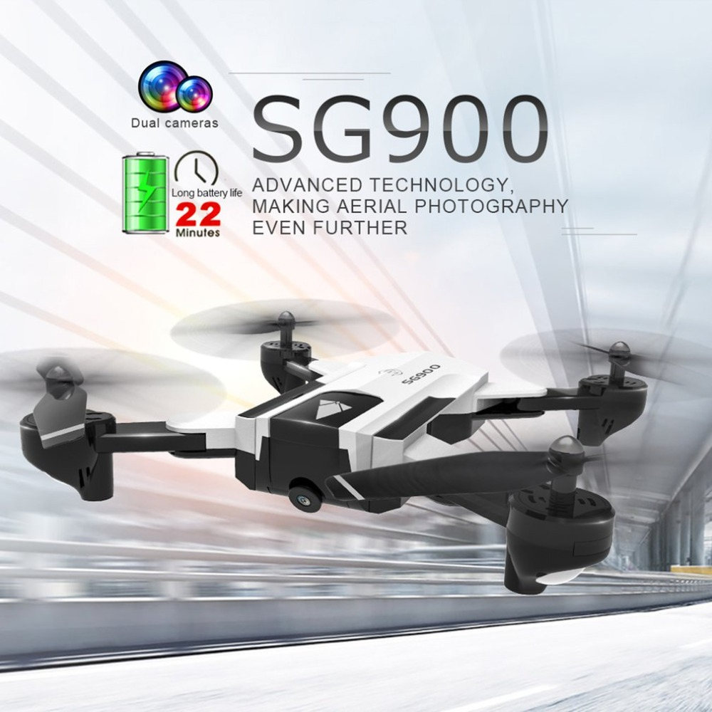 SG900 2.4G Foldable 720P FPV Optical Flow Positioning 22 Minutes Flying Gesture Photo/Video Image Sensing Follow RC QuadcopterSG900 2.4G Foldable 720P FPV Optical Flow Positioning 22 Minutes Flying Gesture Photo/Video Image Sensing Follow RC Quadcopter