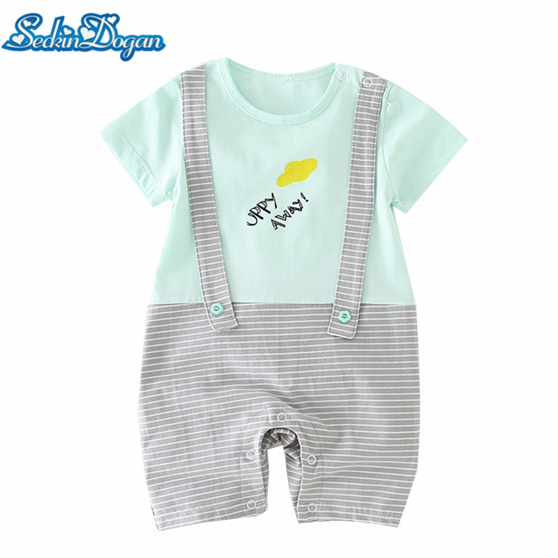 New Summer Baby Girls Boys Short Jumpsuit Romper Cotton Short-Sleeve 18 Kinds of Cartoon And Colors Pattern Casual Baby Romper