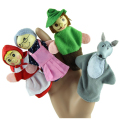 4PCS Little Red Riding Hood Cartoon Finger Puppets Christmas Gifts Baby Finger puppet
