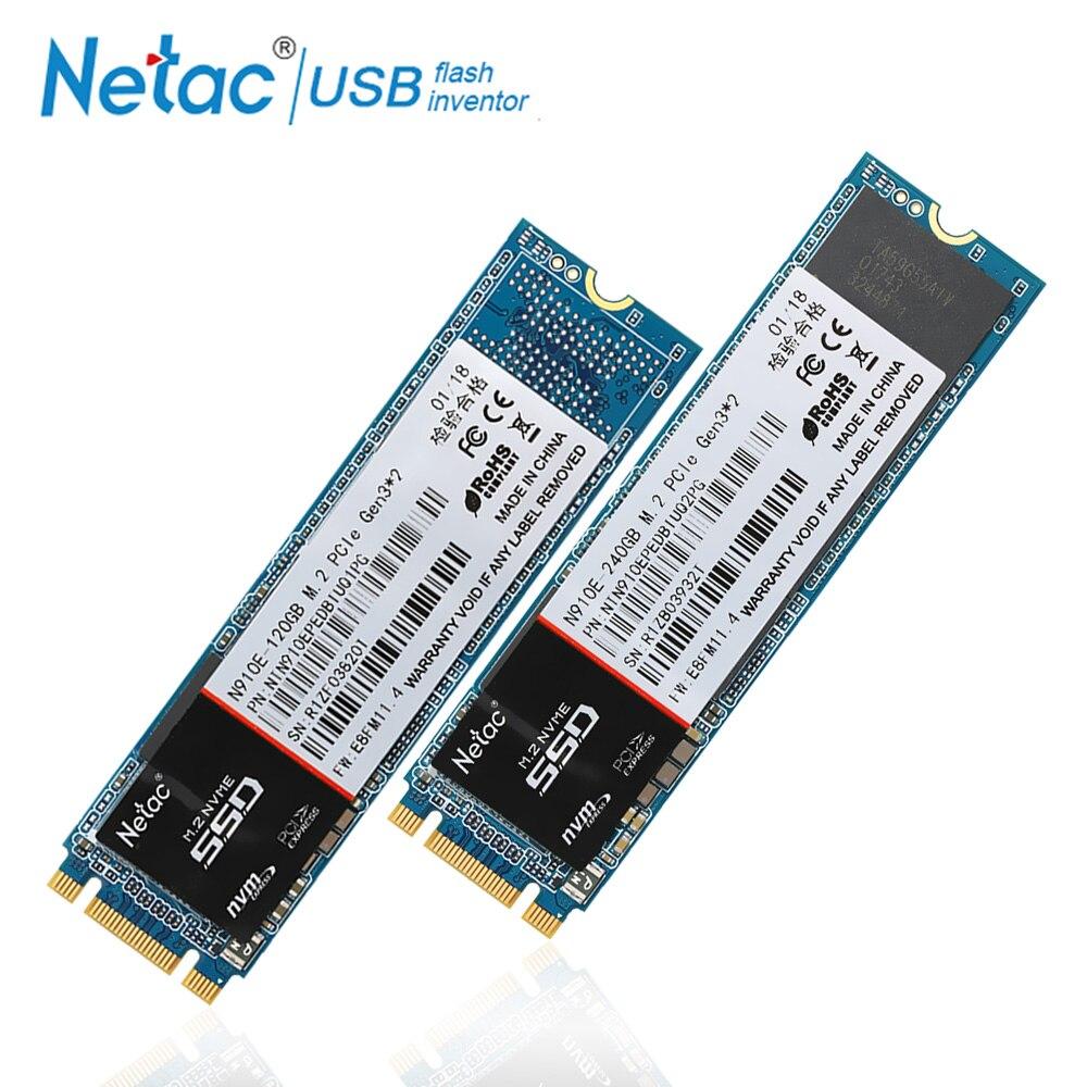 Netac M.2 240 GB 120 GB SSD M2 2280 Interne Solid State Drive SSD 240 GB 120 GB NVMe Ordinateur Portable disque dur Haute Vitesse Pour ordinateur pc