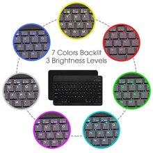 Kemile Slim-thin Portable Backlit Wireless Bluetooth Keyboard For iPad Tablet