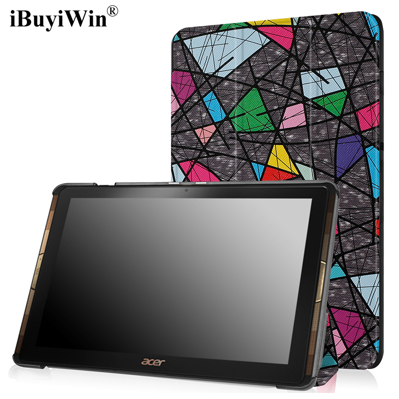 цены Slim Print Case for Acer Iconia Tab 10 A3-A40 One 10 B3-A30 10.1 inch Tablet PU Leather Case Folding Stand Cover+Screen Film+Pen