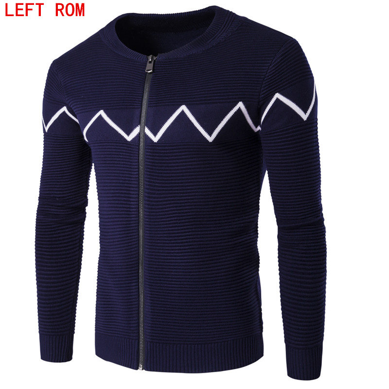 font b Men s b font Knitted Sweaters Cardigans Collar O Neck Winter Wool Sweater