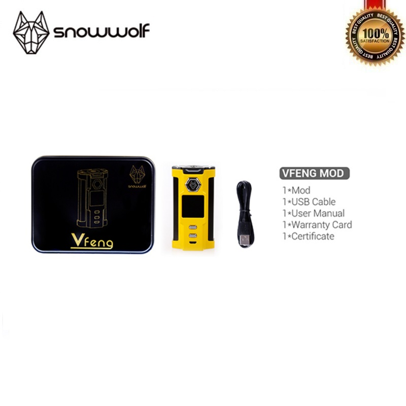 100% Original Sigelei Snowwolf VFeng 230 W Mod grand O LED affichage lumière LED Vape TC 18650 boîte Mod Fit Mods de cigarettes électroniques - 5