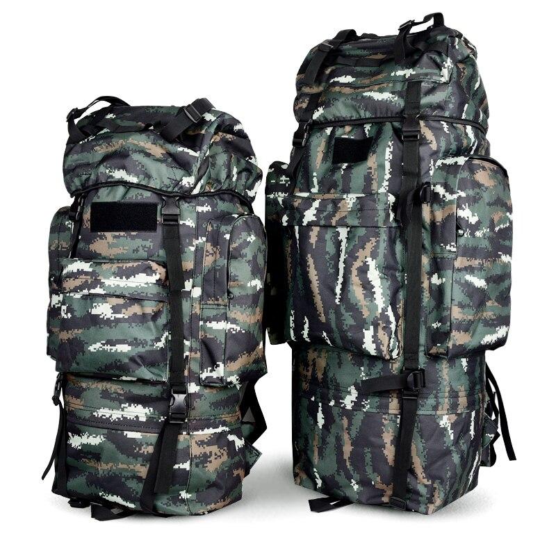 65L 100L Durable étanche en métal cadre NylonTraval randonnée Camping Trekking bagages sac à dos sac à dos Sport de plein air sac de montagne
