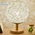 10 Colors Table Lamp Modern Sepak Takraw Wood Protect Eyesight Desk Lamp For Home Bedroom Living Room Decoration Bedside Lamp