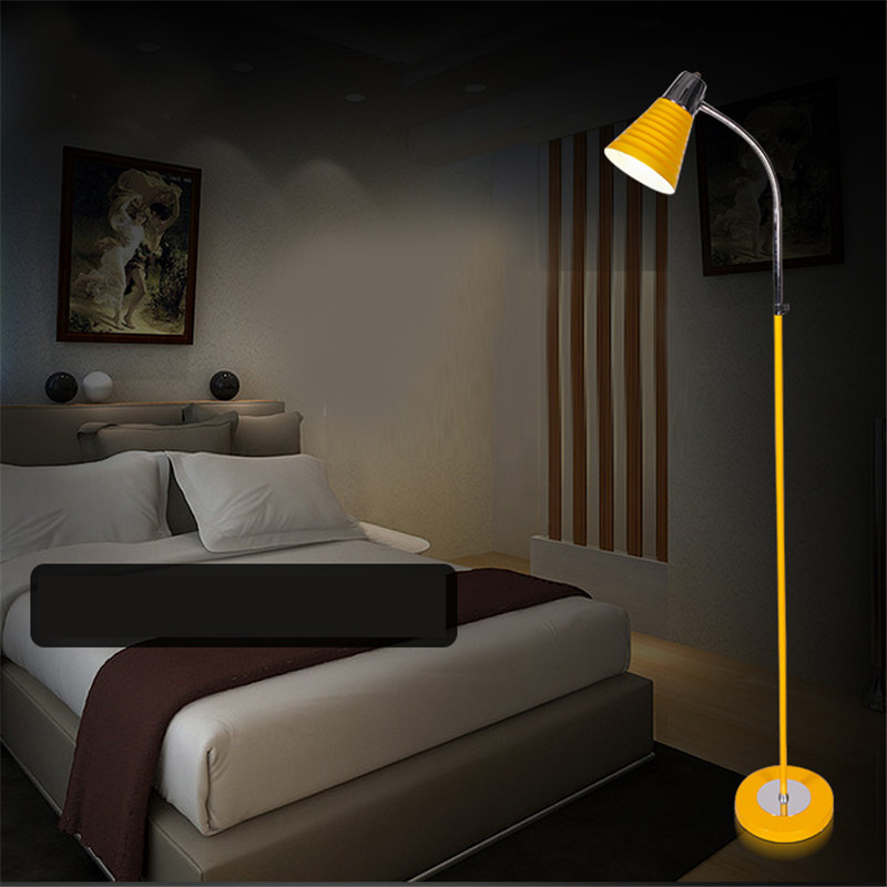 Hot Sale 4 Colors Stainless Steel Led Floor Reading Lamp