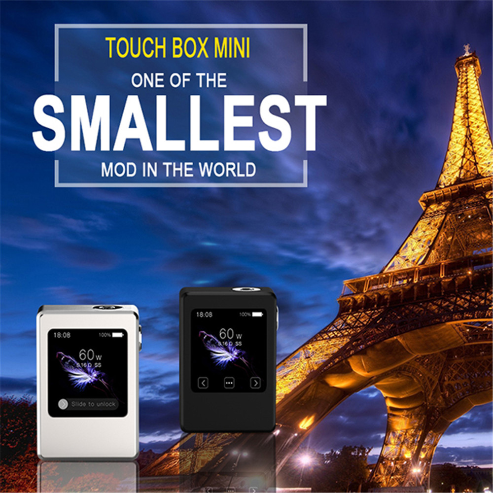 ФОТО NEW ARRIVE SMY Touch Box Mini  Electronic Cigarette Box Mod 60W 12V E Hookah Mini Mod Box