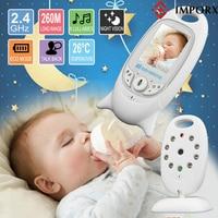 IMPORX Baby Video Monitor Wireless 2.0 Inch LCD 2 Way Talk IR Night Vision Temperature Baby Camera Baby Walkie Talkie Babysitter
