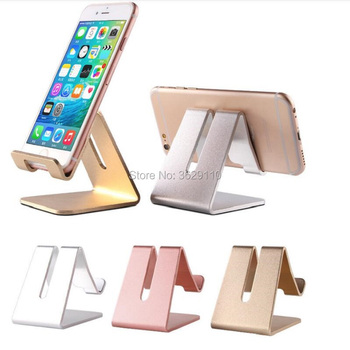 hopeboth Universal Aluminum Metal Cell Phone Tablets PC Desk Stand Holder Bracket for samsung note 8 for iphone X