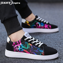 Men's Vulcanize Shoes Lace-up Fashion printed canvas shoes Spring Autumn Flat Black Red Blue Casual Shoes Male Sneakers men s vulcanize shoes lace up fashion men casual shoes spring autumn flat casual shoes male sneakers leather shoes anti skid new
