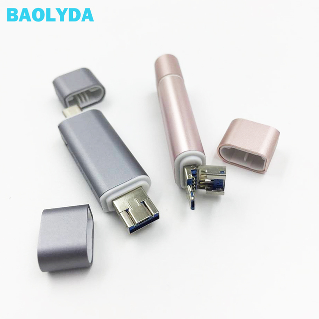 Baolyda نوع C قارئ بطاقات SD بطاقة 5in1 وتغ/USB C قارئ بطاقات مع USB 3.0 مايكرو SD TF نوع C قارئ البطاقات SD ل الهواتف المحمولة