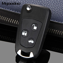 3 Buttons Folding Flip Fob Car Remote Key Shell Case Uncut Blade For Ford Focus Suit Mondeo Festiva Fusion KA Auto Replacement