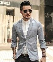 Siyah Iş Rahat erkek Takım Elbise ince Ceket Erkek Blazer Ince uygun Pamuk erkek Eğlence Takım Elbise Blazer Büyük Boy 2016 Yeni bahar