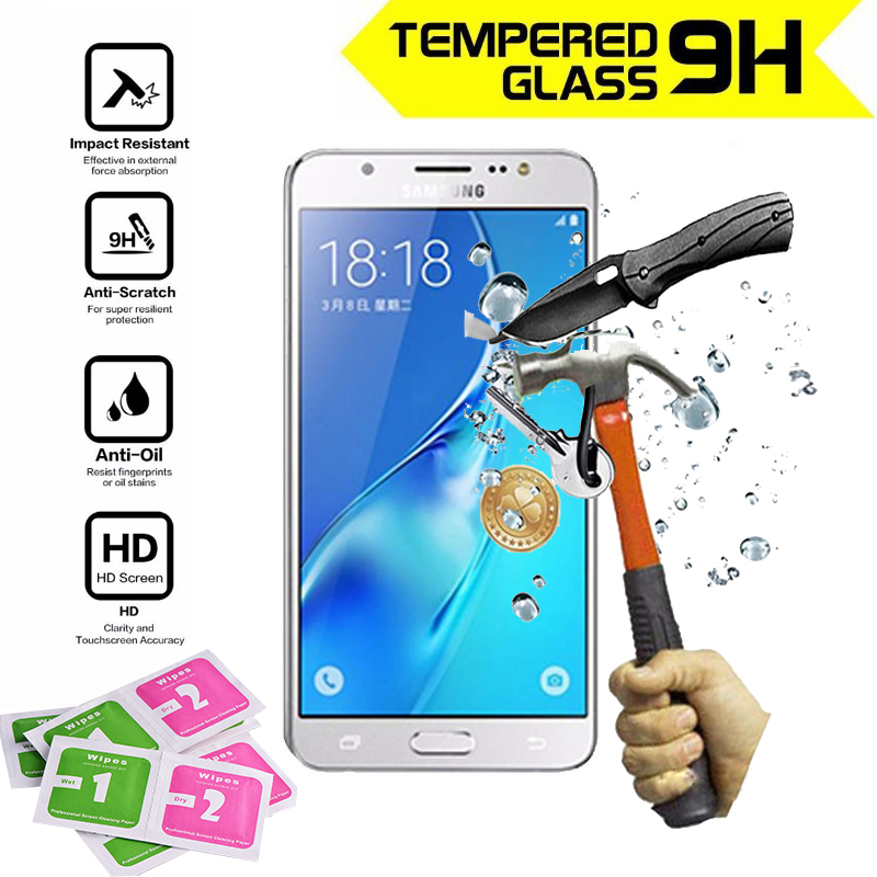 1pcs glass screen protector film for Samsung Galaxy J5 2016 polarizer protective film protection tempered glass