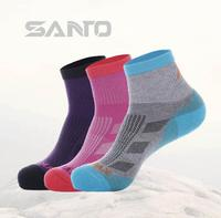 The New SANTO Mountain Half Thick Outdoor Socks COOLMAX Speed Dry Socks Anti Odor Perspiration Hosiery