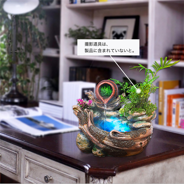 Living Room Handcraft Waterscape Room Ornament Humidifier Resin Water Fountain Home Office Decoration Humidifier