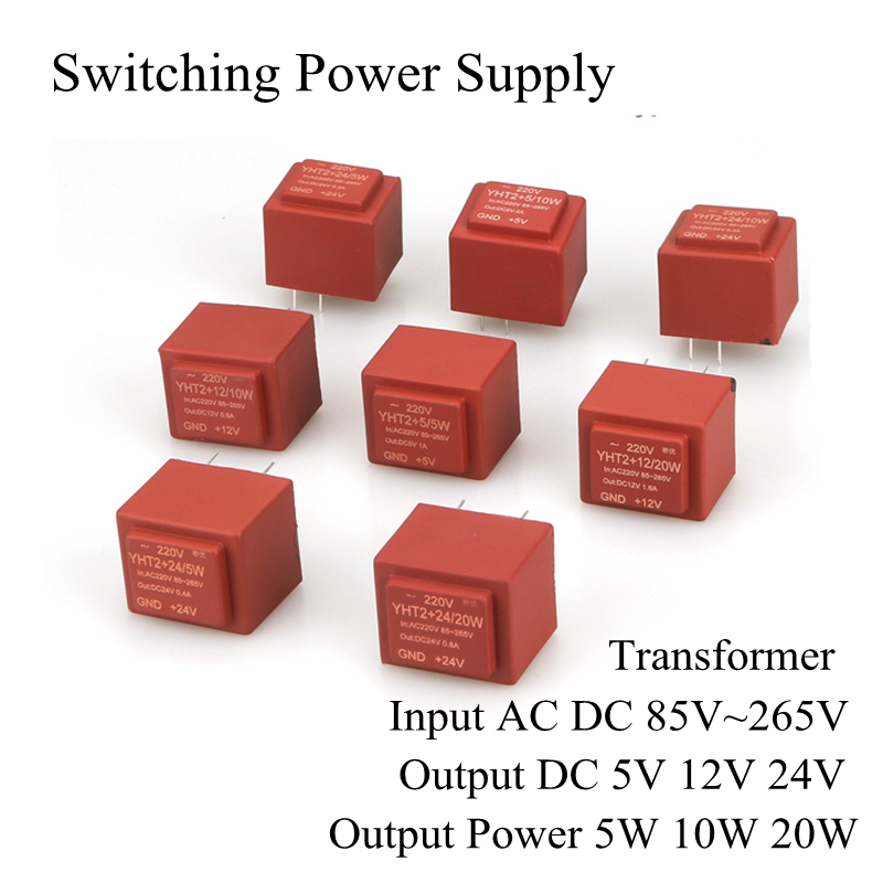 Switching Power Supply Module Transformer Input AC DC 85V~265V Output DC 5V 12V 24V Maximum Output 5W 10W 20W ac to dc led dual output switching power supply d 350 350w ac input output voltage dc 5v 12v 24v transformer