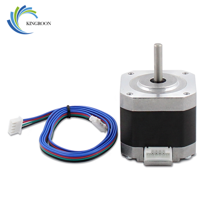 4-plomo Nema17 Motor paso a paso 42 paso 42 BYGH 1.5A 17HS4401 1,8 DC para CNC XYZ 3D impresoras partes con 4 pin 800mm Cable Dupont parte
