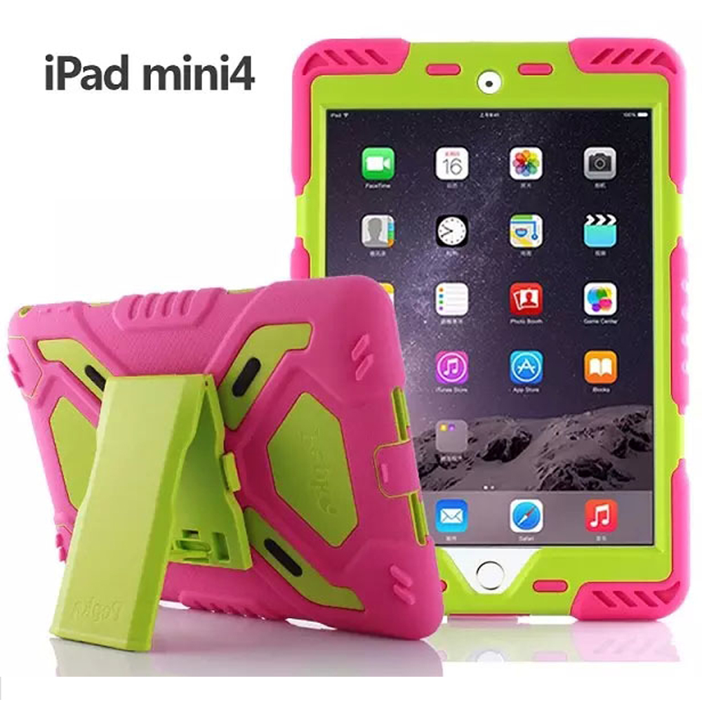 Spider Extreme Military Heavy Duty Waterproof Dust/Shock Proof Cover Case For Apple iPad mini 4 ip68 underwater waterproof case for iphone 7 6s 6 dirt dust snow proof cover pink