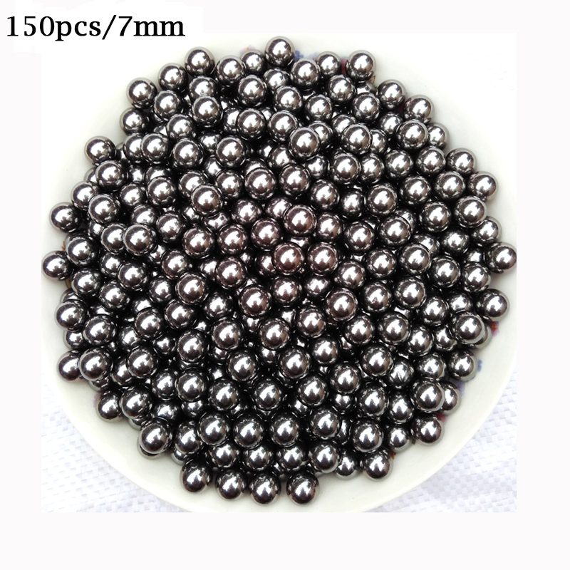 150Pcs/lot 7mm Diameter Slingshot Stainless Steel Balls Bagged Package Sling Shot Shooting Hunting Bow Arrow Compound Bow