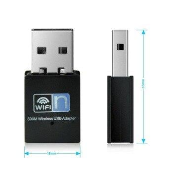 300Mbps Mini USB Wireless WiFi Lan Network Receiver Card Adapter For Desktop PC Wifi Receiver External