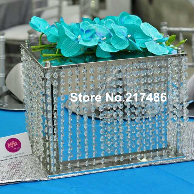 Online Whole Crystal Bead Hanging And Metal Money Box For Wedding Centerpieces Aliexpress Mobile