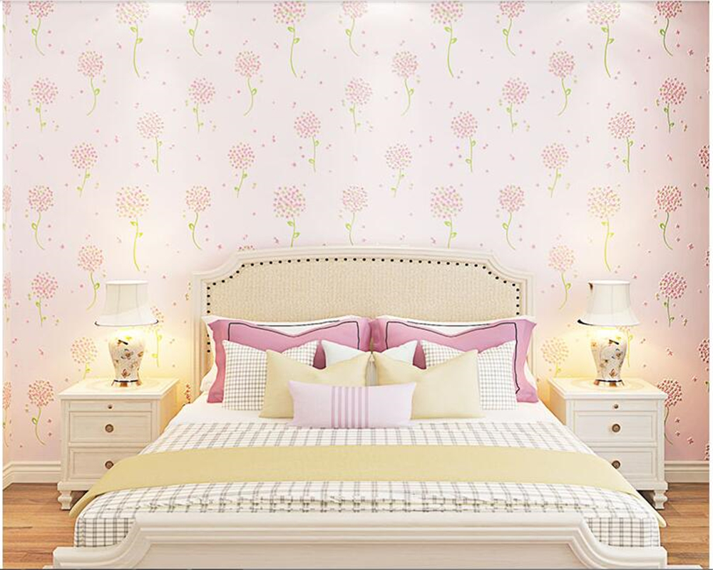 beibehang Pastoral fashion personality nonwoven wall paper modern simple bedroom living room TV background 3d wallpaper behang non woven bubble butterfly wallpaper design modern pastoral flock 3d circle wall paper for living room background walls 10m roll