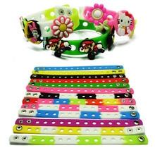 50pcs/lot Mix Style Random Silicone Bracelet Wristband 18cm Fit Shoe Charms croc Buckle Rubber Wrist Strap