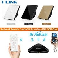 TLINK Broadlink EU UK Standard 1 Gang 1 Way Touch Switch Remote Control Wall Light Glass