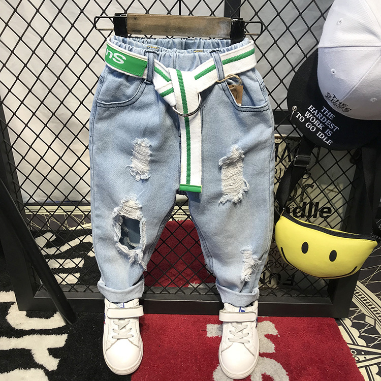 hole pants kids boy denim boys pants 2018 autumn children clothing boy trousers casual jeans kids light blue baby boys clothes