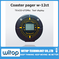 Text message receiver, coaster paging system display, take food pager, restaurant/coffee shop/hospital wireless calling system