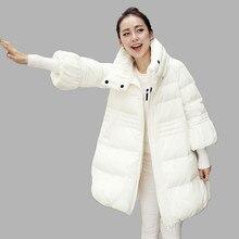 Woman Winter Coat 2016 Fashion Large Skirts Medium Long Parkas High Collar Zipper Slim Coat Female Padded Jacket SS808