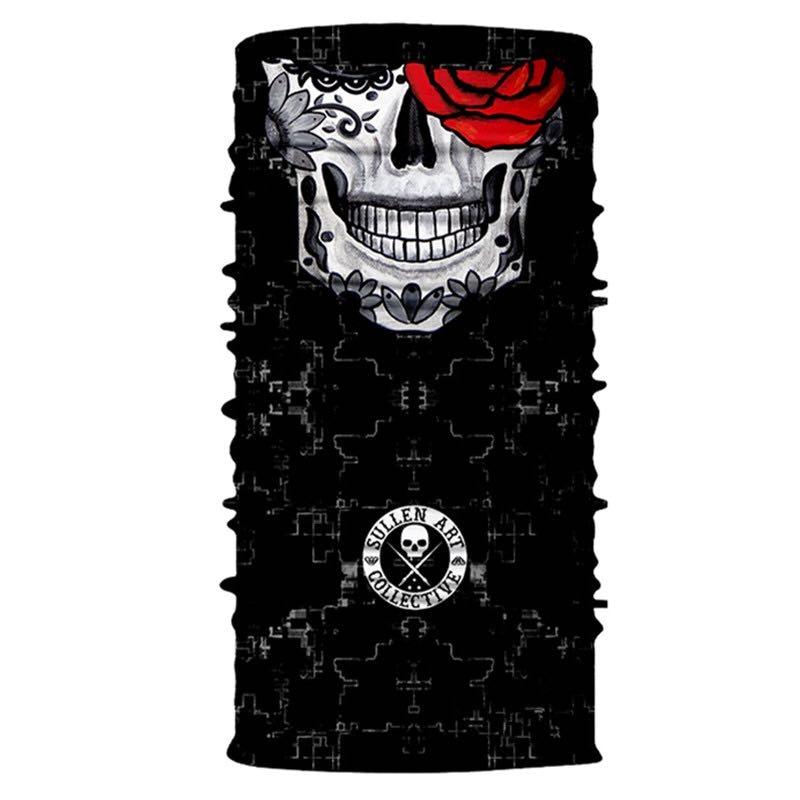 3D Череп Скелет бесшовная Бандана Балаклава головная повязка мотоциклетный головной убор Байкер волшебный платок труба Шея рыболовная вуаль маска для лица - Цвет: TA86