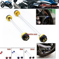 For SUZUKI GSX-R 1000 GSX-R1000 GSXR1000 GSXR 1000 2007-2014 Front & Rear Axle Fork Crash Sliders Wheel Protector Gold