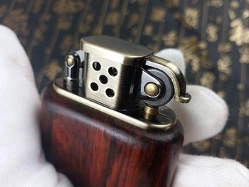 Gasoline Rosewood Vintage Fire Lighter5