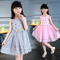 Flower Vestidos Girl  Dresses Cotton  Summer Girls Dress  Birthday Party Princess Dress 4-10 Years 2016 New Fashion 4  6 7 8 10