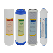 Reverse Osmosis System Replacement Filter Sets without membrane, 10 Pre-Filters plus Inline Post Carbon filter(stage 1 ,2 ,3&5) direct selling promotion terminal purification clear ce water filters one stage pre filter transparent desktop carbon filter