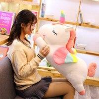 50/60/80 cm Soft Unicorn Plush Toy Stuffed Animal Unicorn Pillow Cushion Gift For Children's Day Gift