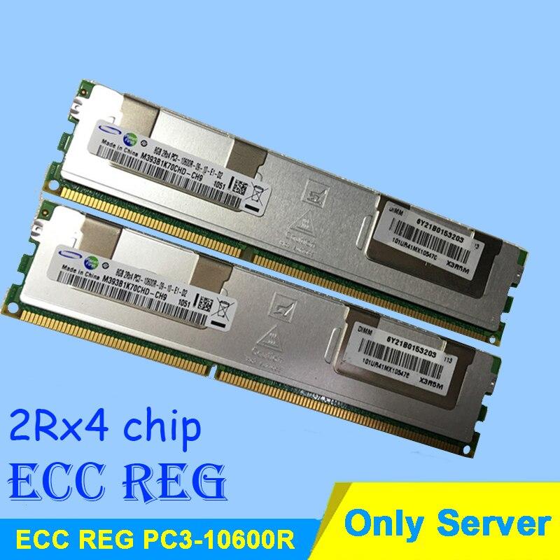 Pour Serveur Mémoire R-DIMM Béliers DDR3 4 gb 8 gb 16 gb DDR3 1333 mhz PC3-10600R 2Rx4 ECC REG RDIMM RAM DDR 3 1333 Seulement Garantie À Vie