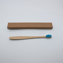 סיטונאי 500 יחידות לסביבה עץ זיפים רכים חידוש מברשת שיניים מברשת שיניים במבוק ידית עץ במבוק סיב