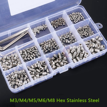 Axk M3/m4/m5/m6/m8 Hex Stainless Steel Wood Fastening Screws Bolt Assortment Kit Fastener Hardware Socket Head Cup Screw Pcb 60pcs box stainless steel m4 screw kits hex socket head cap screws m4 6 8 12 16 20 25mm fastener assortment kit hardware tools
