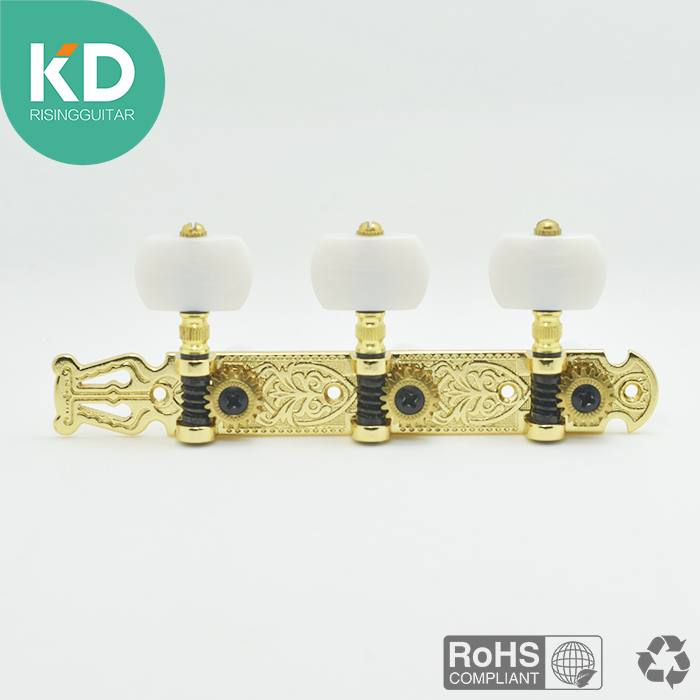 2 PC per set High end  Classical Guitar Tuning Pegs Machine Heads Tuning keys Gold color