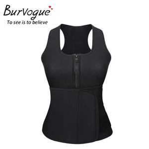 Image 1 - Burvogue חדש ומעצב אפוד נשים מותניים מאמן Thermo גוף מעצב חגורות הרזיה Shaper משרד בקרת מותן Cincher Shapewear בתוספת