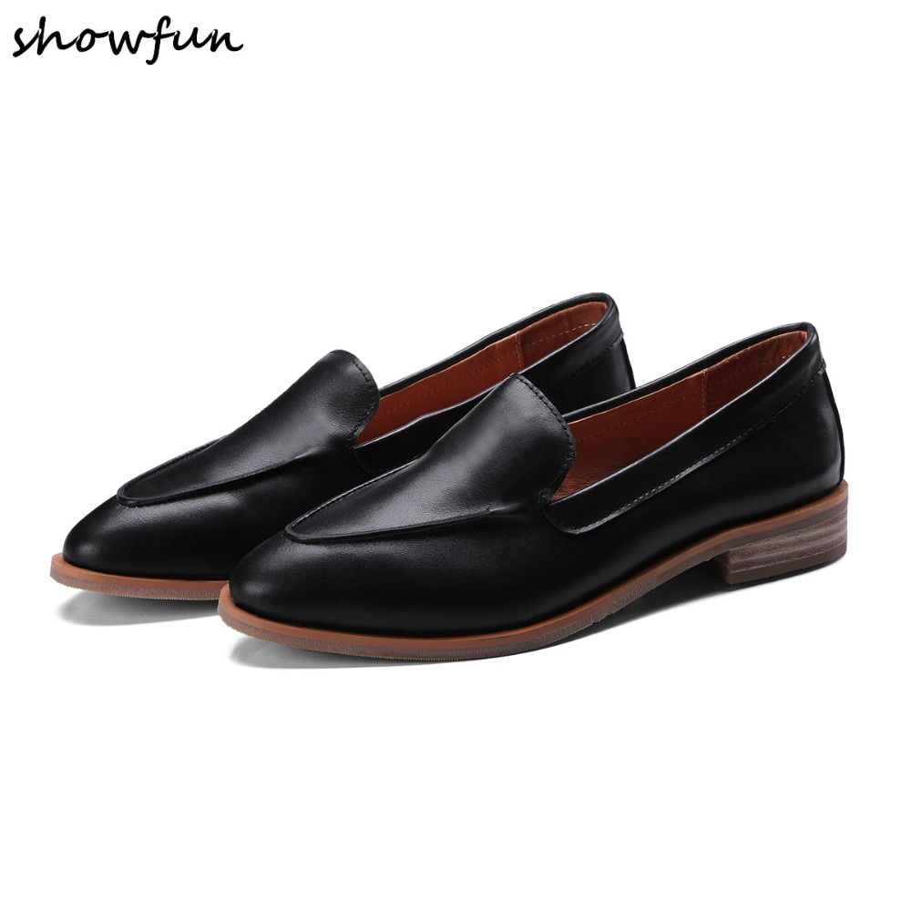 4 Color plus size 34 43 women's loafers genuine leather slip on flats loafers brand designer leisure ballerinas comfort shoes